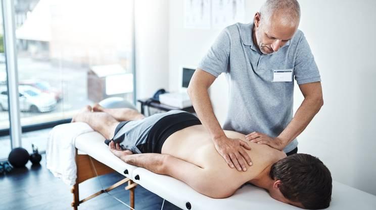 Fisioterapia, Schiena, Seduta di terapia