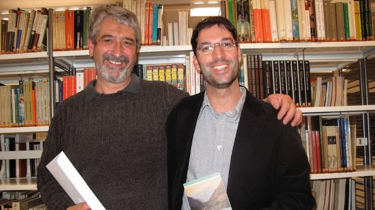 Guido Pedrojetta e Gerry Mottis alla Bibliomedia di Biasca