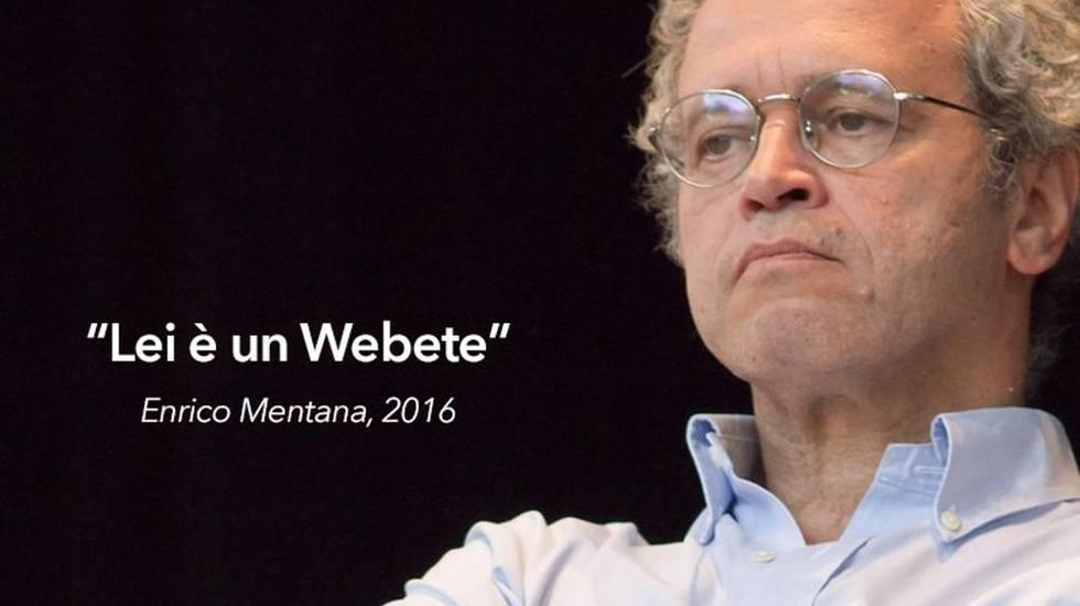 Lei è un Webete, Enrico Mentana 2016