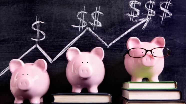 Maialino salvadanaio, guadagno, risparmiare, crescita economica