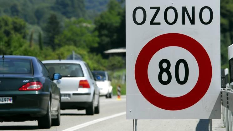 Ozono ticino, autostrada