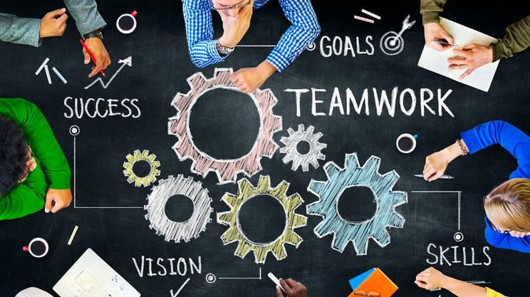 Teamwork, Gruppo di persone, multietnico competenza sul lavoro di squadra, Riunione, Riunione commerciale, Lavoro di squadra, Affari, Aspirazione
