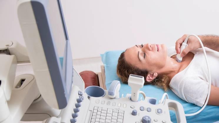 Tiroide, Macchina per ultrasuoni, Ecografia