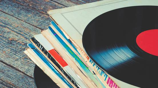 Vecchio record in vinile, Busta, Cerchio, Disco, Plastica, Musica