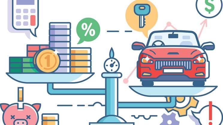 autovettura in leasing, credito, contanti