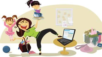 mamma, lavoro, famiglia