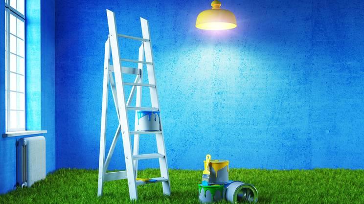 ritinteggiare, pitturare, appartamento, colore, vernice