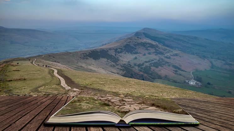 Parco Nazionale, Parco Nazionale di Peak District, Regno Unito, Altopiano, libro aperto, natura, sentiero