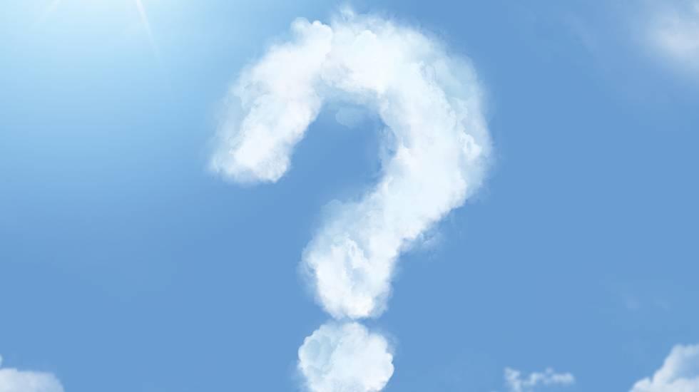 Atei? Agnostici? punto di domanda, nuvole, cielo