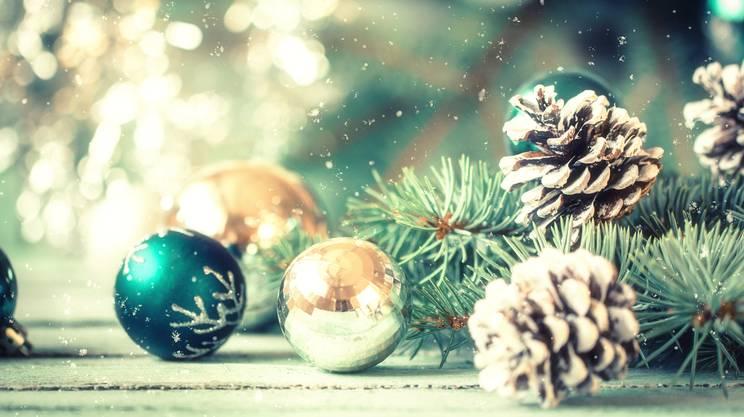 Decorazione di Natale vintage su sfondo astratto, filtro, Festività pubblica, Natale, Albero di natale, Attrezzatura per illuminazione, Neve