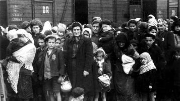 Ebrei ungheresi al loro arrivo ad Auschwitz nel maggio 1944