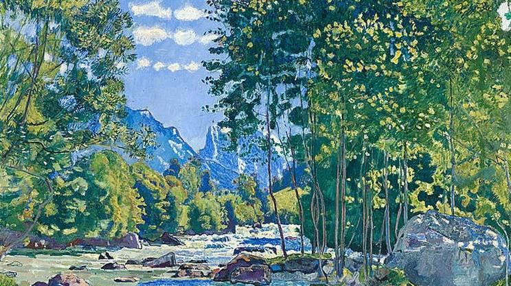 Ferdinand Hodler (1853-1918): Die schwarze Lütschine (1905)