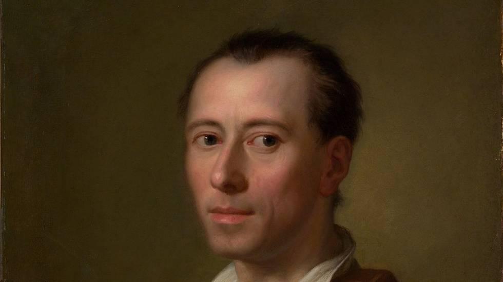 Johann Joachim Winckelmann (1755 circa): Anton Raphael Mengs, olio su tela, Metropolitan Museum of Art, New York