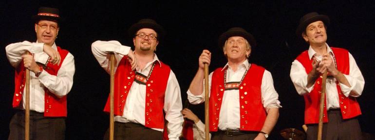 Konfederatti, spettacolo Cabaret della Svizzera italiana,nella foto i