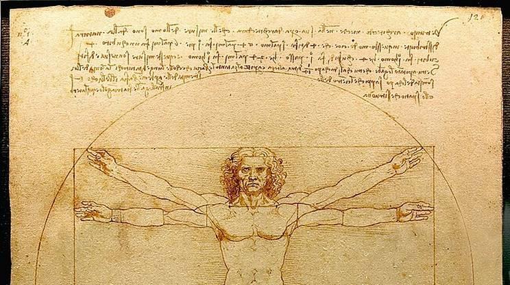 Leonardo da Vinci: Uomo vitruviano, 1490 ca.