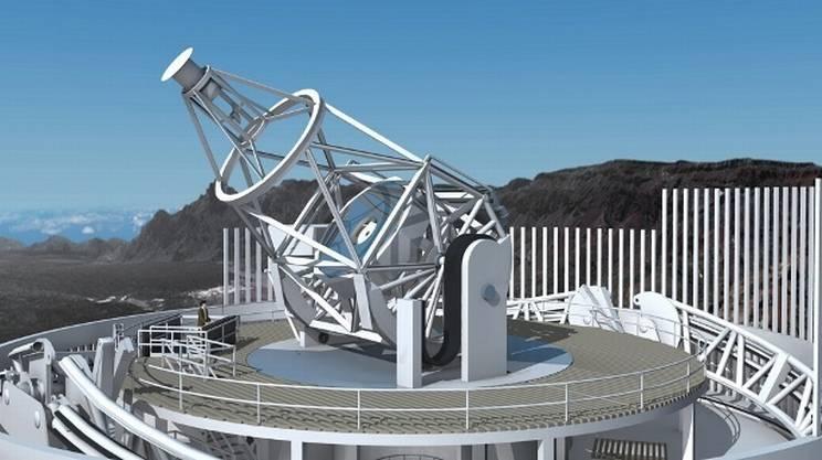 Raffigurazione pittorica del Telescopio Solare Europeo, EST European Solar Telescope