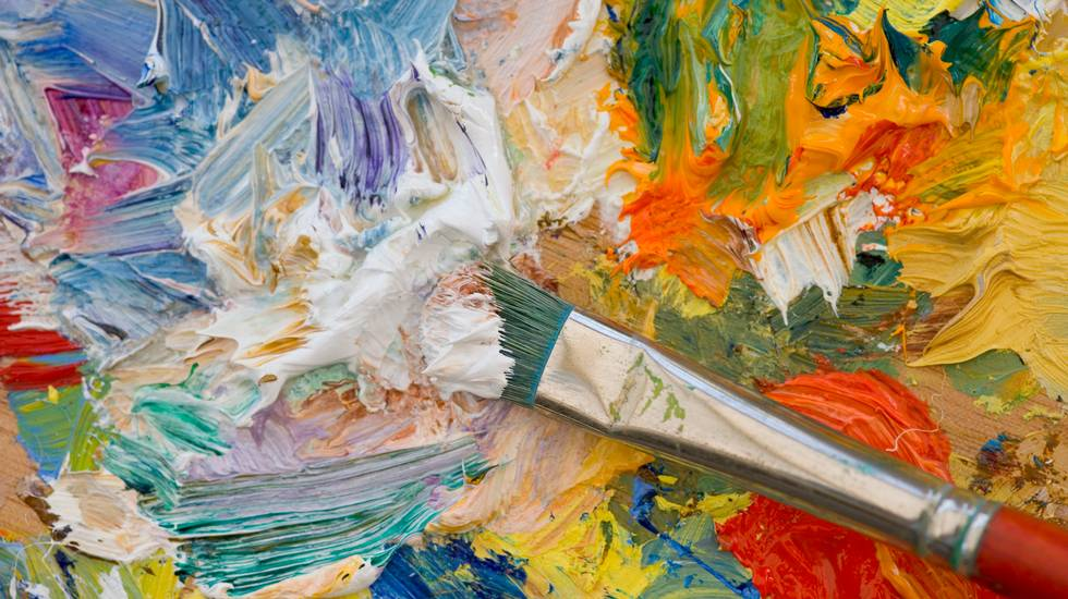 Tavolozza di artisti, Arte, Pittura ad olio, Pennello, Vernice