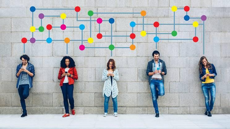 cellulare, giovani, comunicazione, amici, social
