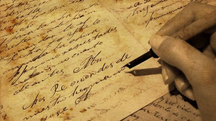 poesia, scrivere poesie, Scritta retrò Lettera d'amore