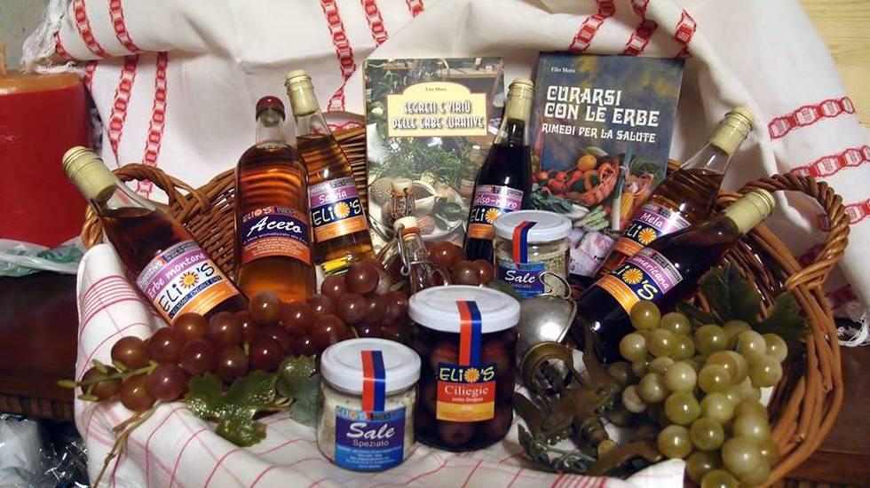 Elio's, Elisir: digestivi, marmellate, sale aromatizzato di Elio Moro