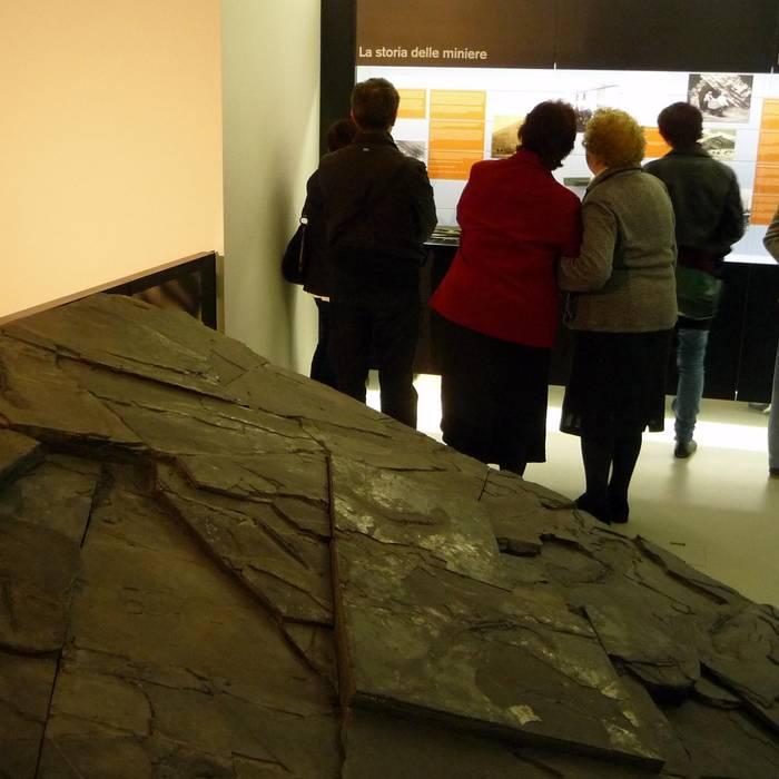 Interno Museo dei fossili di Meride (RSI)