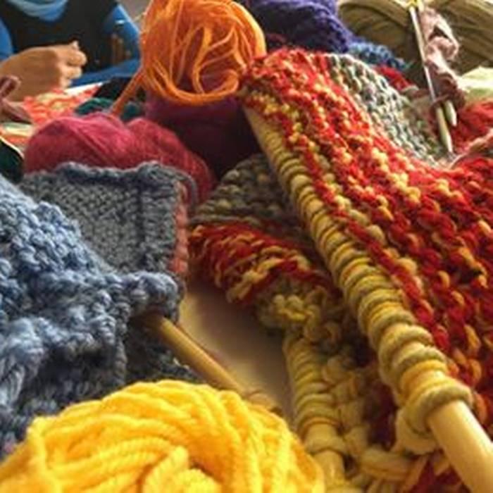 Maglia, lana, Urban Knitting, la maglia sugli alberi dell'associazione TRaGitto