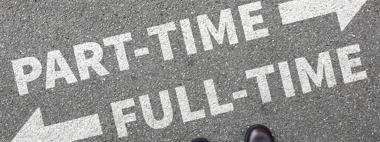 lavoro part-time, lavoro full-time