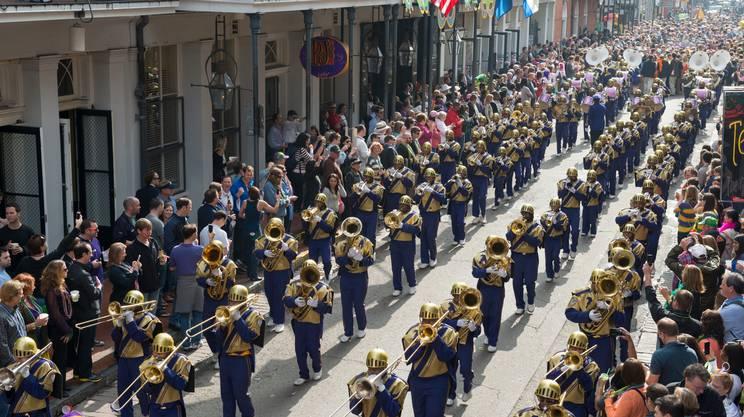 New Orleans, Sfilata, Martedì Grasso, Carnevale, New Orleans, Gruppo musicale, Banda che marcia