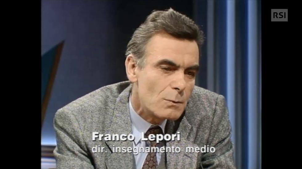 Franco Lepori, dopo vent'anni di Scuola Media Unica