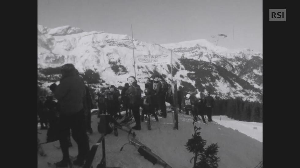 La pratica dello sci-bob negli anni Sessanta