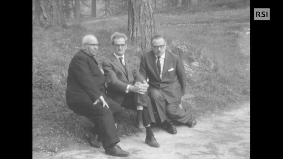 Guido Calgari e Piero Bianconi a Sils Maria