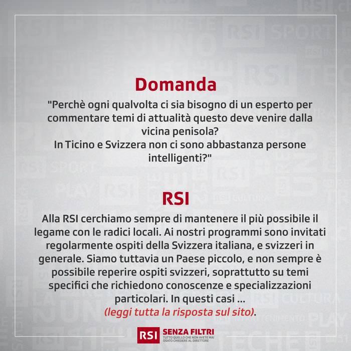 """""""La RSI è troppo italianizzata"""""""