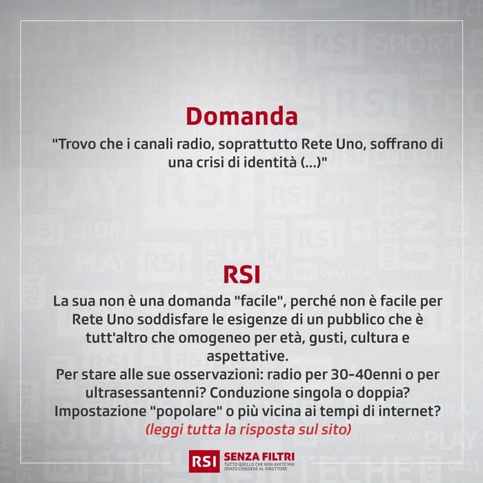 """""""Rete Uno, crisi d'identità"""""""