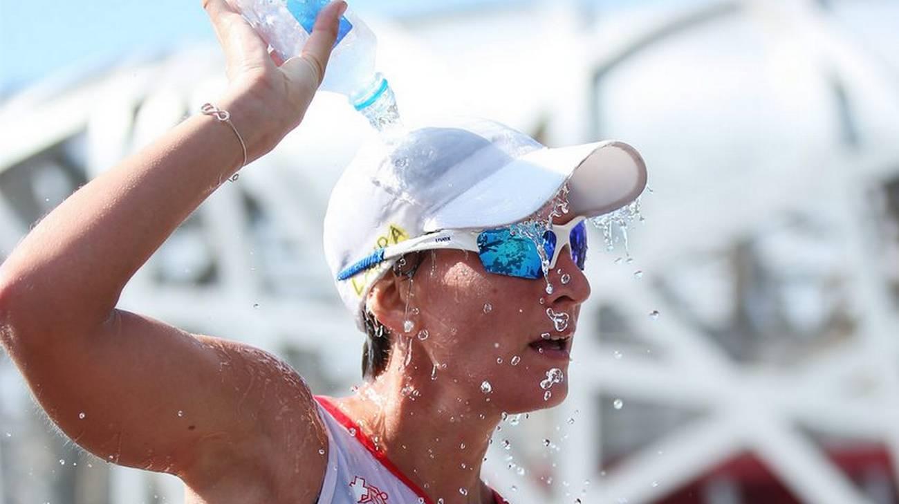 Laura Polli combatte il caldo cinese
