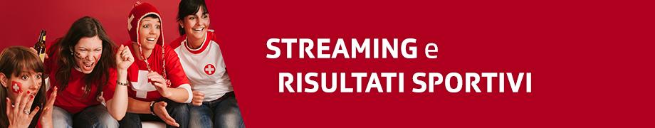 Streaming e risultati sportivi