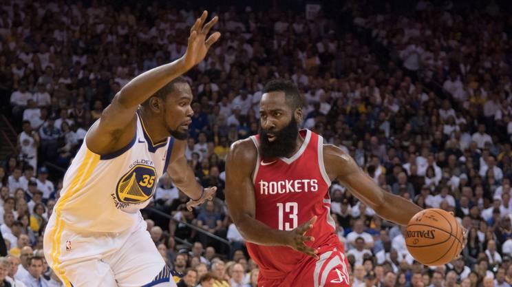 Harden trascina i Rockets contro i Warriors