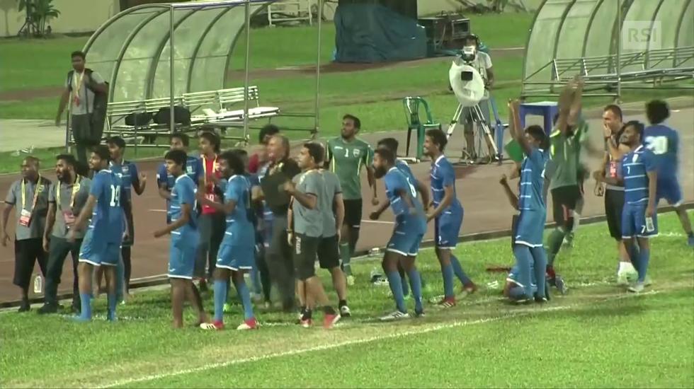 SAFF Suzuki Cup, la monetina decide Sri Lanka - Maldive (10.09.2018)