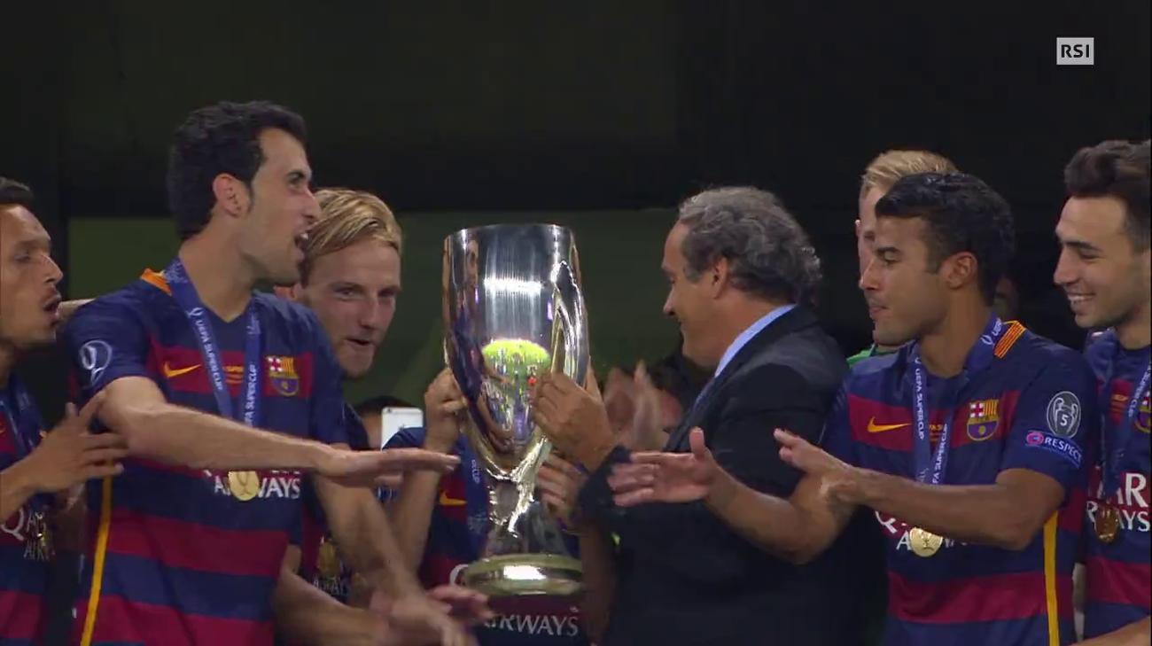 Supercoppa UEFA, Barcellona-Siviglia (Telegiornale 12.08.2015 ...