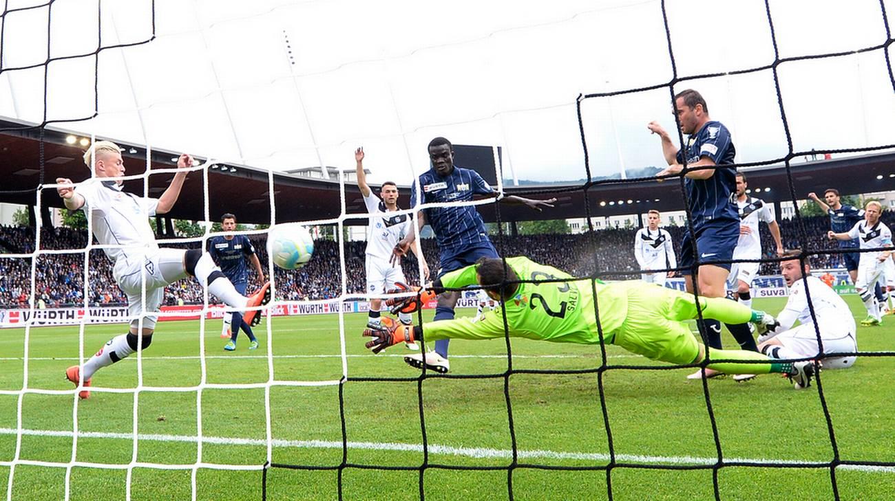 Il gol dell'1-0 di Sarr
