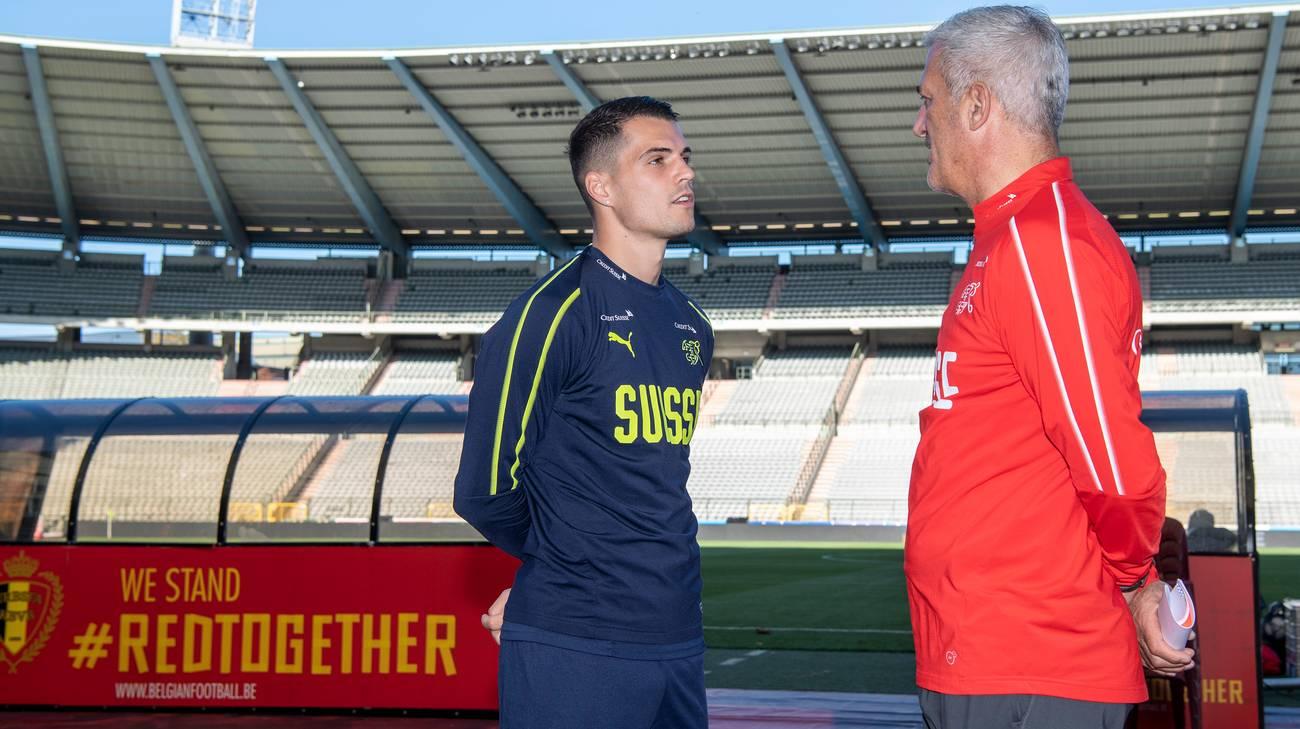 Il capitano a colloquio con il selezionatore a Bruxelles