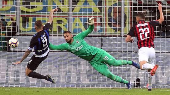 Icardi regala il derby all'Inter al 92'