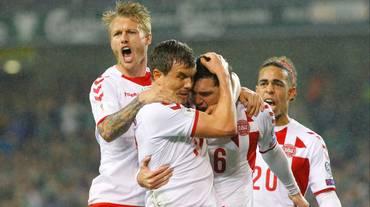 La Danimarca batte l'Irlanda e va in Russia