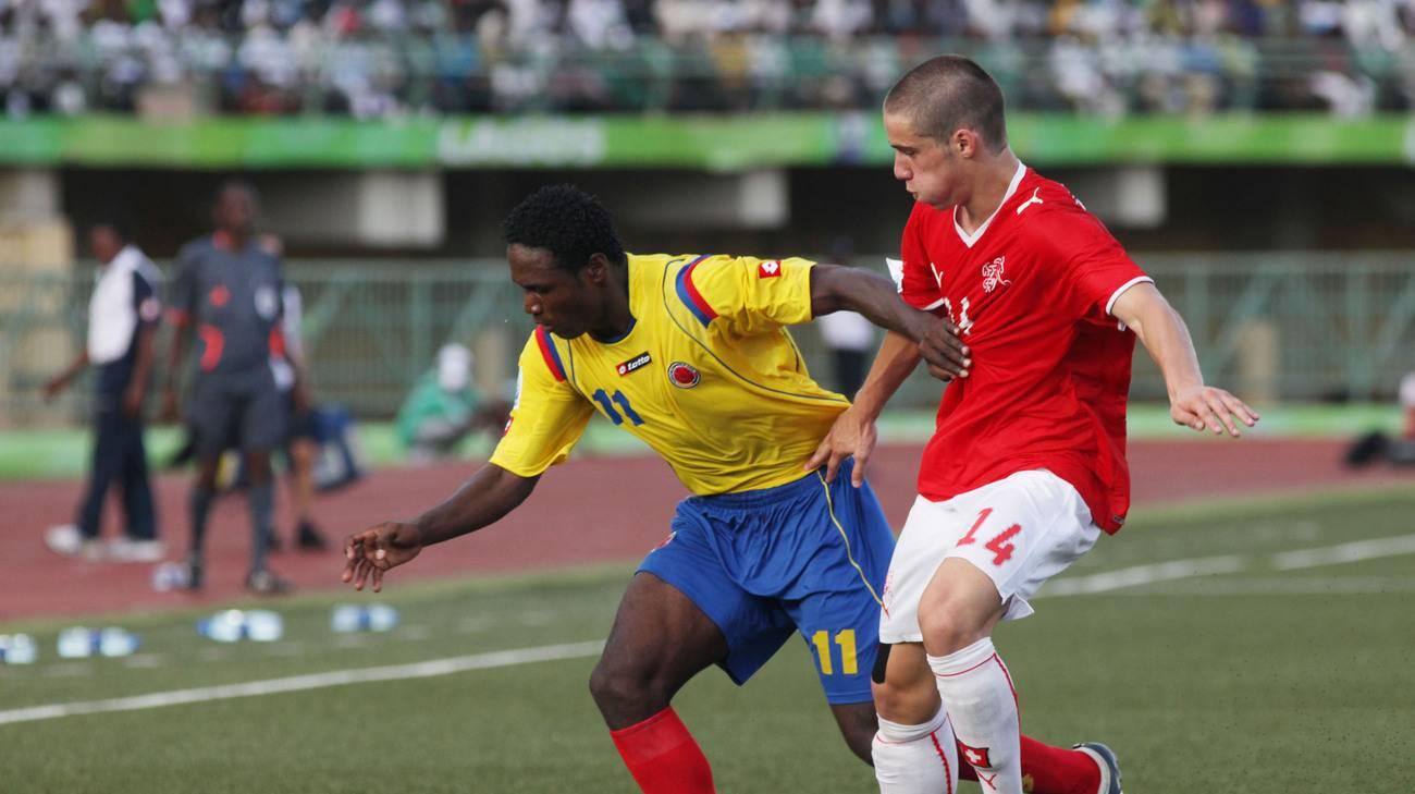 Il rossocrociato nella partita contro la Colombia a Lagos