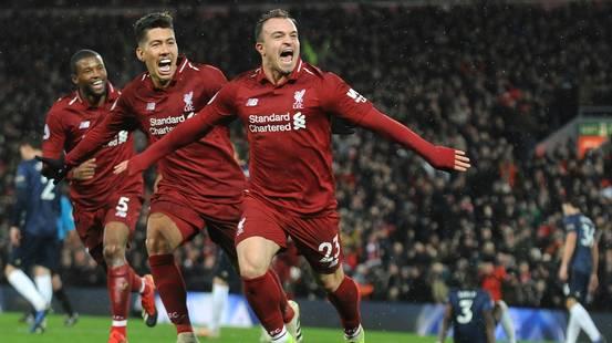 Shaqiri entra e riporta il Liverpool in testa