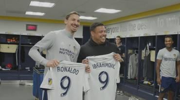 Ibra incontra Ronaldo e si emoziona