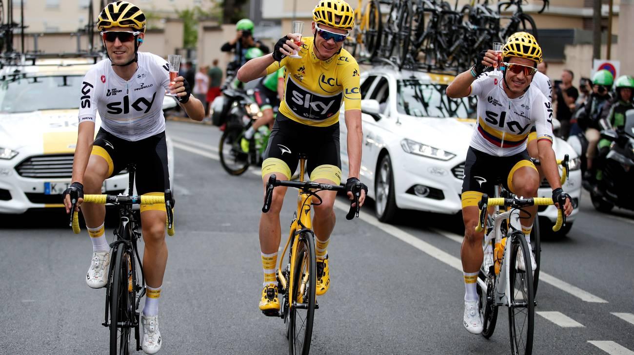Sky lascia il ciclismo, resterà sponsor fino al 2019