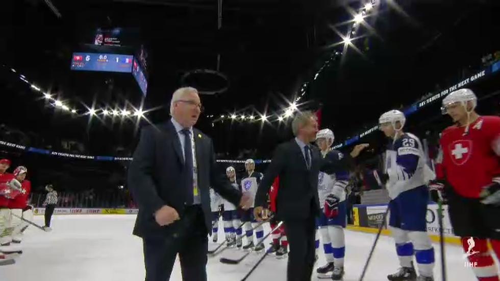 Mondiali, passerella d'onore per il coach francese Dave Henderson (15.05.2018)