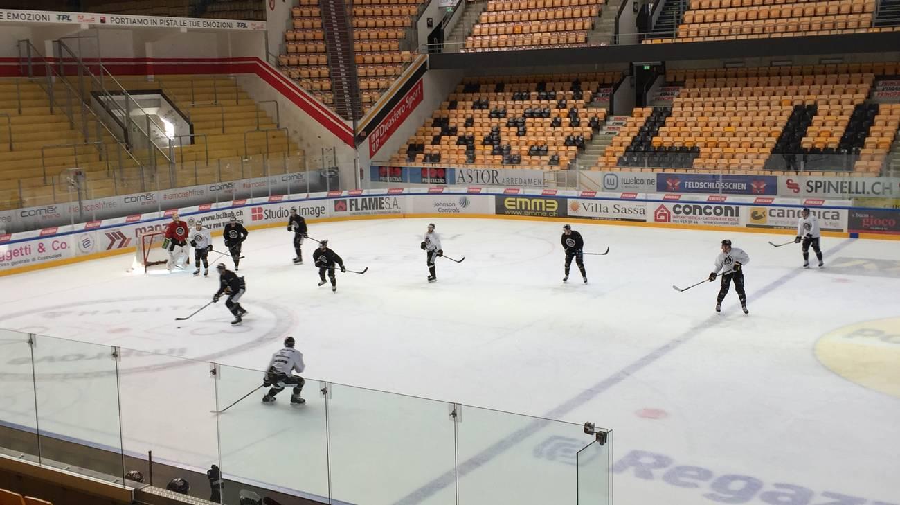 I giocatori sul ghiaccio