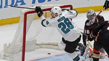 Meier brilla nel successo degli Sharks