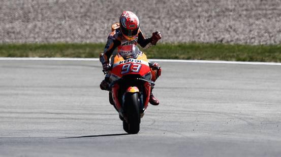 Nona vittoria al Sachsenring per Marquez
